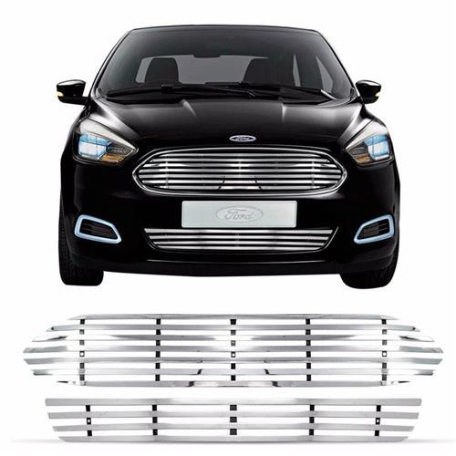 Sobre Grade Novo Ford KA 2015 Hatch Aço Inox Tubular