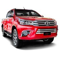 Sobre Grade Toyota Nova Hilux 2016 Proteção Radiador DSW Inox