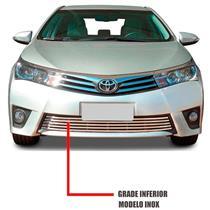 Sobre Grade Corolla 2015 a 2016 Aço Inox Flat 1 Peça