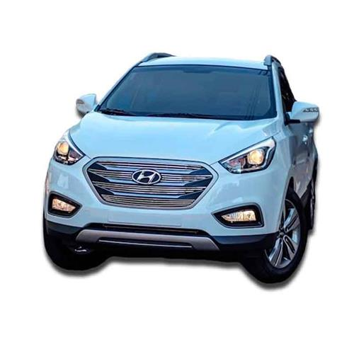 Sobre Grade Darta Hyundai IX35 2016 Horizontal Square Inox 5 Peças