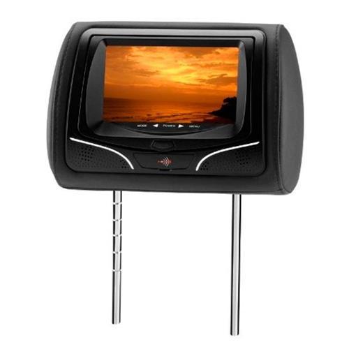 Encosto De Cabeça KX3 Preto Monitor Lcd 7 Pol Leitor De Usb Sd Card