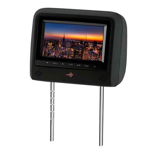 Encosto De Cabeça KX3 Preto Monitor Botões Touch Lcd 7 Pol