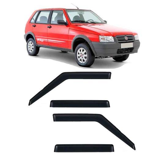 Calha Defletor de Chuva Fiat Uno Premio Elba 1985 a 2011 e Mille 2012 e 2013 4 Portas Tg Poli