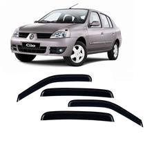 Calha Defletor de Chuva Renault Clio Hatch, Sedan 00/15 4Portas 5 Anos Garantia