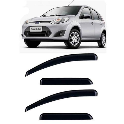 Calha Defletor de Chuva Ford Fiesta Hatch, Sedan 02/11 e Rocan 12/14 4Portas Tg poli 5 Anos Garantia