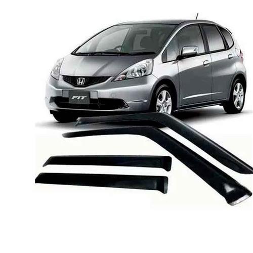 Calha Defletor de Chuva Honda New Fit 09/14 4Portas Tg poli 5 Anos Garantia