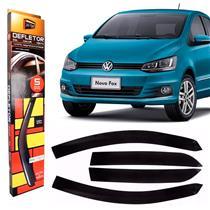Calha Defletor de Chuva Volkswagen Fox Crossfox Novo Fox e Spacefox 2004 a 2015 4 Portas Tg Poli