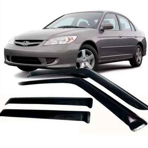 Calha Defletor de Chuva Honda Civic 01/06 4Portas Tg poli 5 Anos Garantia