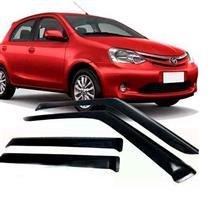 Calha Defletor de Chuva Toyota Etios Hatch e Sedan 2012 a 2015 4 Portas Tg Poli