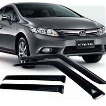 Calha Defletor de Chuva Honda Novo Civic 12/15 4Portas Tg poli 5 Anos Garantia