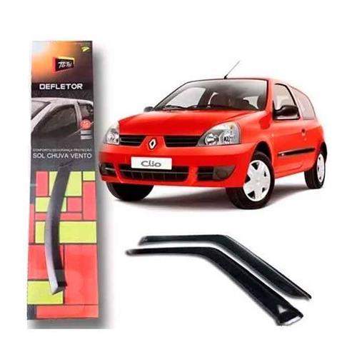Calha Defletor de Chuva Renault Clio Hatch 2 Portas Tg Poli 2004 a 2014