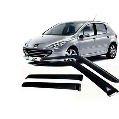 Calha Defletor de Chuva Peugeot 307 Hatch, Sedan 01/12 4Portas Tg poli 5 Anos Garantia