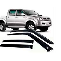 Calha Defletor de Chuva Toyota Hilux Dupla 05/15 4Portas Tg poli 5 Anos Garantia