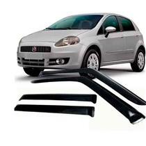 Calha Defletor de Chuva Fiat Punto 2008 a 2016 4 Portas Tg Poli