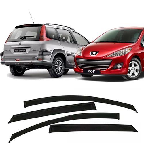 Calha Defletor de Chuva Peugeot 206 207 SW e Escapade 2000 a 2013 4 Portas Tg Poli