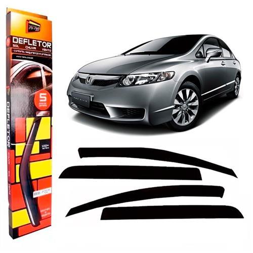 Calha Defletor de Chuva Honda New Civic 07/11 4Portas Tg poli 5 Anos Garantia