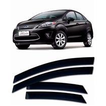 Calha Defletor de Chuva Ford New Fiesta Sedan 2011 a 2015 4 Portas Tg Poli
