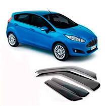 Calha Defletor de Chuva Ford New Fiesta Hatch 2011 a 2015 4 Portas Tg Poli