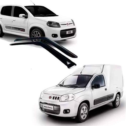 Calha Defletor de Chuva Fiat Uno Evo 11/15 Nova Fiorino 14/15 2Portas Tg poli 5 Anos Garantia