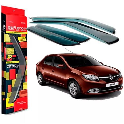 Calha Defletor de Chuva Renault Logan 07/13 4Portas Tg poli 5 Anos Garantia