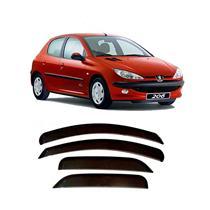 Calha Defletor de Chuva Peugeot 206 207 Hatch  Sedan 00/11 4Portas Tg poli 5 Anos Garantia