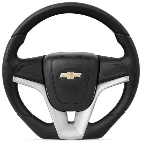 Volante GM Modelo Cruze Acabamento Prata para Celta Astra Novo Corsa Montana com Bucha Adaptação