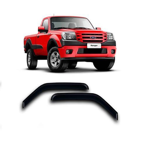 Calha Defletor de Chuva Ford Ranger 96/12 Cab Simples Estendida 2portas Tg poli 5 Anos Garantia