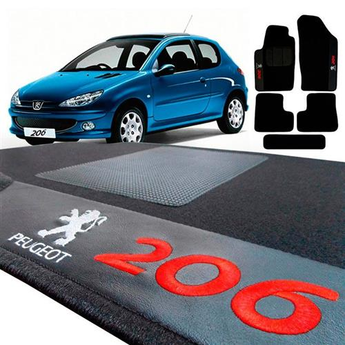 Jogo de Tapetes Bordado HITTO 5 Peças Peugeot  206
