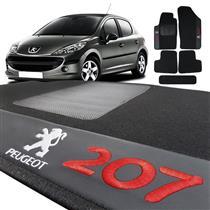 Jogo de Tapetes Bordado HITTO 5 Peças Peugeot 207