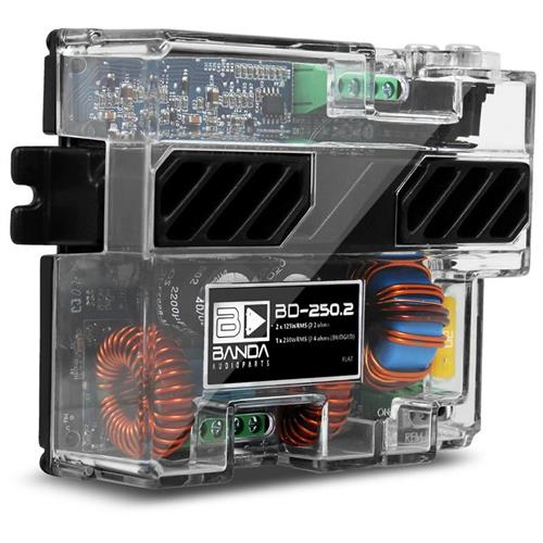 Módulo Amplificador de Som Banda Bd250.2 2 Canais 125W RMS 2 Ohms
