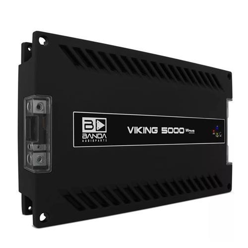 Módulo Amplificador de Som Banda Viking 5002 1 Canal 5000W RMS 2 Ohms