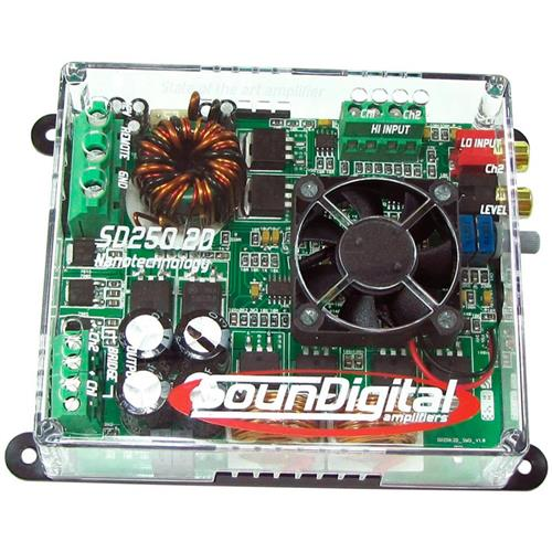 Módulo Amplificador de Som Automotivo SOUNDIGITAL SD250. 2D 4OHMS