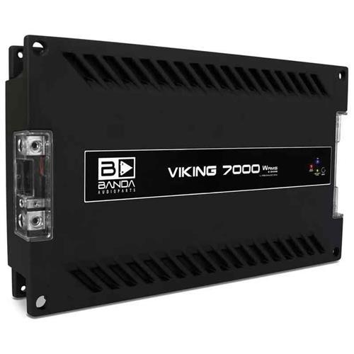 Módulo Amplificador de Som Banda Viking 7002 1 Canal 7000W RMS 2 Ohms