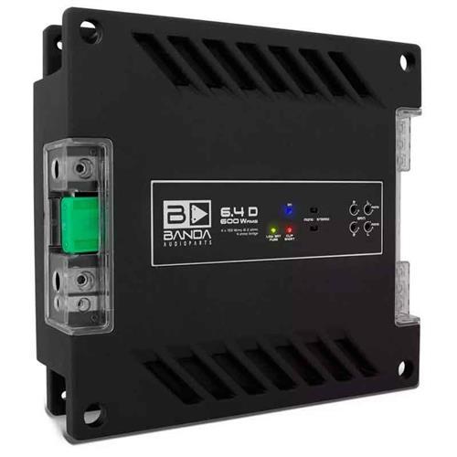Módulo Amplificador de Som Banda 6.4D 4 Canais 600W RMS 2 Ohms