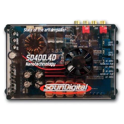 Módulo Amplificador de Som Automotivo SOUNDIGITAL SD400.4D 4 OHMS