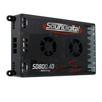 Módulo Amplificador de Som Automotivo SOUNDIGITAL SD800.4D 4 EVO OHMS