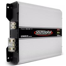 Módulo Amplificador de Som Automotivo Soundigital SD1600.1D EVO 2 OHMS