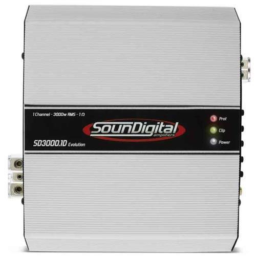 Módulo Amplificador de Som Automotivo Soundigital SD3000.1D EVO 2 OHMS