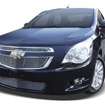 Sobre Grade Darta Chevrolet Cobalt 2012 a 2015 Horizontal Tubular Completa 3 Peças Inox