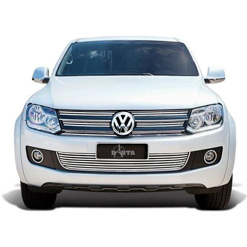 Sobre Grade Darta Volkswagen Amarok 2010 Horizontal Completa 7 Peças Inox