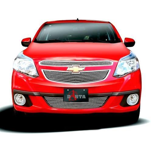 Sobregrade Darta Chevrolet Agile 2010 a 2013 Horizontal Completa 3 Peças Inox