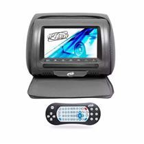 Encosto de Cabeça Grafite Com Leitor USB Com Ziper Tela 7 Polegadas H-Tech