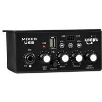 Mixer Estéreo Automotivo Boog Com Entrada Usb e P2 Para Microfone