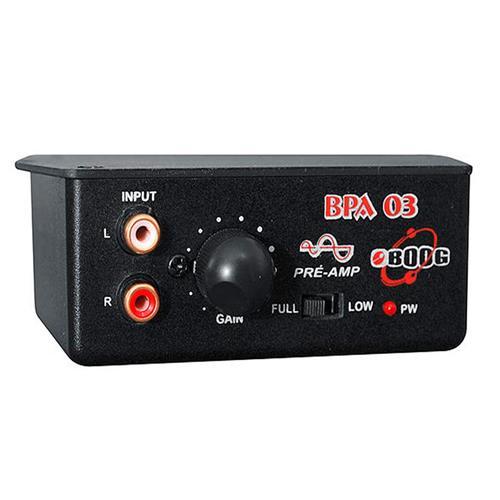 Pré Amplificador Estéreo BPA03 Para Sinal De Áudio Boog