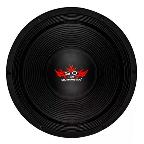 Alto Falante Woofer Ultravox Sound Quality 1600 15 Pol 1600W Rms 4 Ohms Carcaça Aluminio