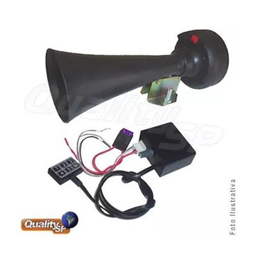 Sirene Rontan 6 Sons Megafone Grande Com Microfone