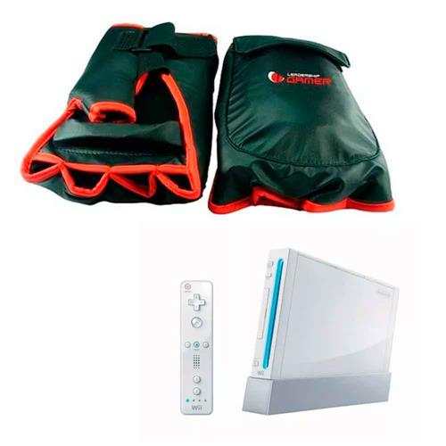 Kit Wii Leadership Luva De Box Para Games