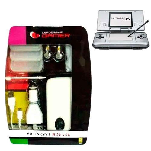 Kit Leadership 15 Em 1 Para Nintendo DS Com Caneta