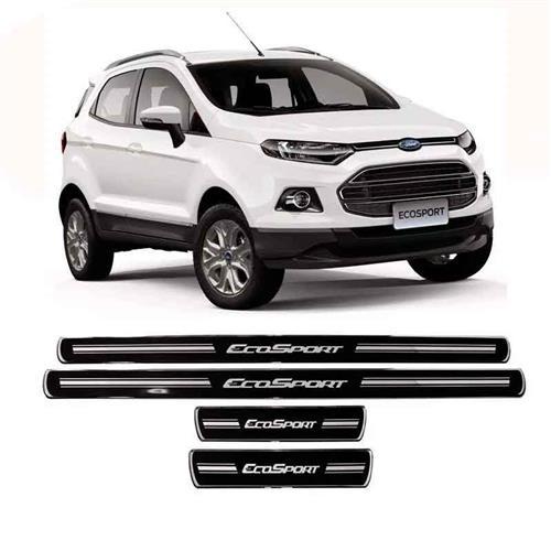 Jogo De Soleira Ford Nova Ecosport Preta