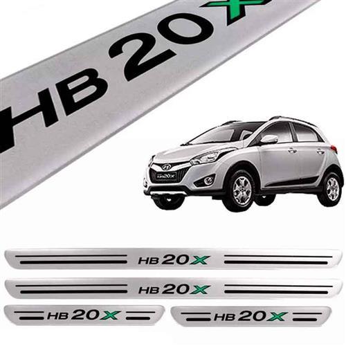 Jogo De Soleira Hyundai Hb20X Prata